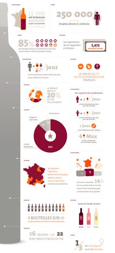 Wine in France Wine Infographic, Infographic Templates, Information Visualization, Data Visualization, Web Design, Print Design, Graphic Design, Kitchen Industrial Design, Modern Industrial