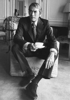 Tea is for mans. Gregory Peck
