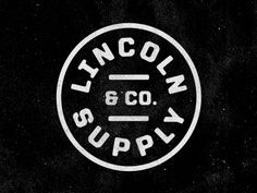 Designspiration — FFFFOUND! | Dribbble - Lincoln Supply & Company by Jeremy Beasley