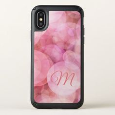 #Custom Dreamy Pastel Rose Pink Fun Bubbles Pattern Speck iPhone X Case - #trendy #gifts #template