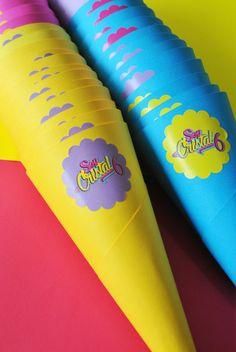 Conos para crispetas o papitas chips! Ideas para recibir a tus invitados. #soylunaparty #partydecor #partyideas