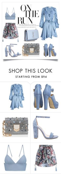 """""""Go for 2Blu"""" by shaynamaidel on Polyvore featuring Zimmermann, Bionda Castana, Jimmy Choo, Steve Madden, T By Alexander Wang and Yves Saint Laurent"""