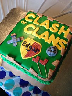 Here are some Clash of Clan Birthday Cake ideas. COC Birthday cake should be a good option. 10th Birthday, Birthday Parties, Birthday Ideas, Birthday Cakes, Clash Of Clans Hack, Homemade Desserts, Clash Royale, Cute Cakes, Eat Cake