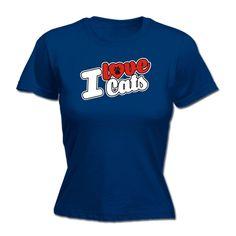 123t USA Women's I Love Cats Paw Heart Design Funny T-Shirt