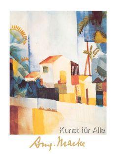August Macke - Das helle Haus II, 1914