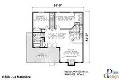 Plans - Plans Design Bungalow, Construction, Plan Design, Balcony, Facade, Floor Plans, How To Plan, Baseboard Heaters, Floating Floor