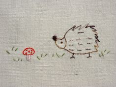 hedgehog embroidery.