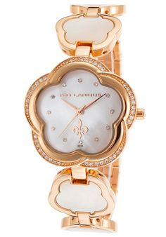 Ted Lapidus Watches Women's Crystal Rose-Tone Stainless Steel White MOP Dial A0554UAPXSM,    #TedLapidus,    #A0554UAPXSM,    #Fashion