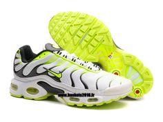 Boutique Officielle Nike Air Max TN Tuned Chaussures Pas Cher Pour Homme Vert - Noir - Blanc