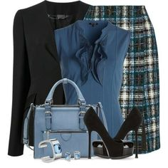 Like the skirt, top (with sleeve added) and jacket. I would/could never wear shoes like that.