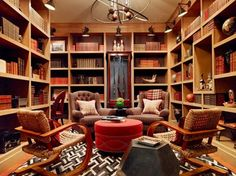 Home Library Design Ideas-17-1 Kindesign