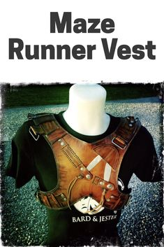 Be safe while running the maze with this leather maze runner vest. Newt, Thomas and the team will be counting on you while you cosplay with the Gladers. #mazerunner #themazerunner #tmr #cosplaystyle #halloweencostumes