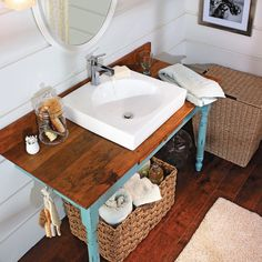 Transform a salvaged find into a beautiful vanity that will be the star of your bath remodel.