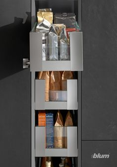 Stop losing precious storage space with our SPACE TOWER. Our pantry unit comes in all heights, widths, and depths and can be tailored to your needs. Home Decor Kitchen, Kitchen Interior, Kitchen Storage, Storage Spaces, Cheap Home Decor, Diy Home Decor, Manufactured Home Remodel, Gothic Home Decor, Luxury Homes Interior