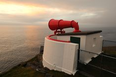 A big horn (!), Cape Wrath lighthouse foghorn, Sutherland, Scotland