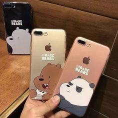 High Crystal Clear Transparent Bare Bears TPU Cases Cover for iPhone 6 6S 6Plus 7 7 Plus Bags Accessories