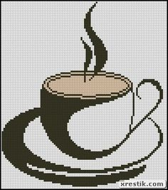 Кофе 55 схема скачать монохром кофе еда и напитки вышивка