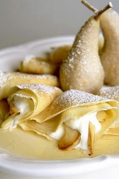 Goat cheese crepes with caramelized milk. #recipes