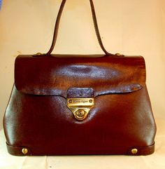 Vintage Aigner Handbag Deep Chestnut Red by skybluemaine on Etsy