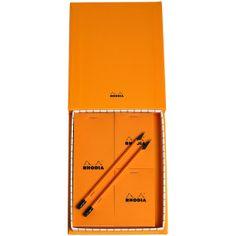 Rhodia Treasure Box 9x7 Orange found on Polyvore