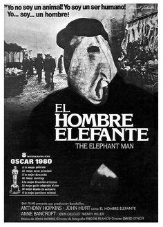EL HOMBRE ELEFANTE (1980) - Llama la atención que a Lynch haya que buscarle en el cartel.. las cosas! :)