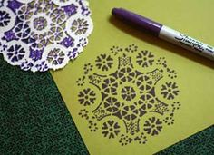 Paper doily print, perfect for an inexpensive art project!