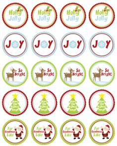 christmas-round-labels