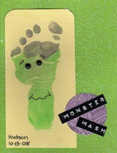 Halloween Baby Footprint  -Part of my Halloween project 2012