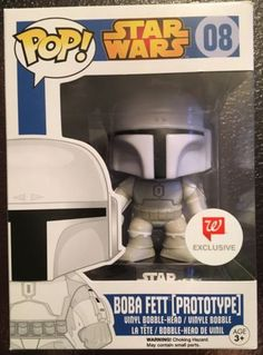 Funko Pop Star Wars 08 Boba Fett Prototype Walgreens Exclusive New MIB Rare