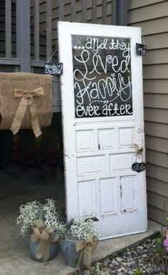 Rustic door for wedding (Photo courtesy of Kristin Paris)