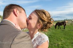 Happy kisses! Vintage wedding, rustic, horses Wedding Rustic, Our Wedding, Cathedral Length Veil, Mr Mrs, Kisses, Wedding Photography, In This Moment, Couple Photos, Happy
