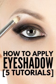 Want to know how to apply eyeshadow properly? These simple & easy step-by-step tutorials for beginners will teach you! Regardless of the color (blue, green, brown) & shape (hooded or monolid) of your eyes, your personal style (natural, smokey, dramatic), these guides will teach you everything you need to know about eyeshadow application. We've also included product recommendations as well as the best brushes for blending & beyond! #eyeshadow #makeup #makeuptips #makeuphowto…