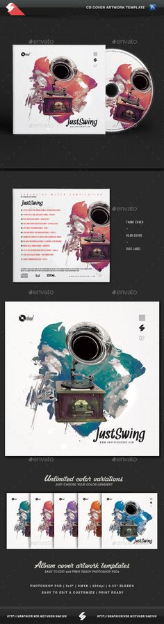 Fabulous CD Cover Artwork Template  • Only available here ➝ http://graphicriver.net/item/electro-swing-vol2-cd-cover-artwork-template/16298200?ref=pxcr