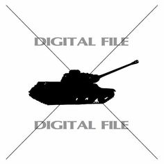 Army Tank A2  Vector Image Vinyl Decal by GuysAfterConception