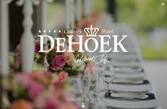 Most weddings embrace a certain style and De Hoek certainly has all the best ideas to match. Whether you're going for vintage, modern and funky, English country garden or for a more formal, traditional wedding style, De Hoek has them all. Country Hotel, English Country Gardens, Vintage Modern, Traditional Wedding, Perfect Wedding, Wedding Styles, Wedding Venues, Weddings, How To Plan