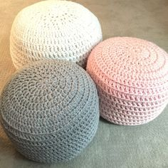 A beautiful, stuffed POUF ottoman to soften the look of any room in your home! These ottomans are perfect to lay on, rest your feet on, or even have