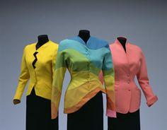 Jacket[Left]    Autumn/Winter 1988    Designer:       Thierry Mugler  Jacket[Center]    Spring/Summer 1990  Jacket[Right]    Late 1980s    Designer:       Thierry Mugler