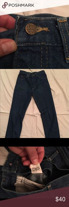 Lee Denim Vintage LEE RIDERS Made in USA, Size 29 however the fit might be smaller. Let me know if you need extra hip measurements / vintage Denim / made in USA / blue jeans / high waisted jeans / high waist jeans / obo / jeans / Lee Jeans Straight Leg