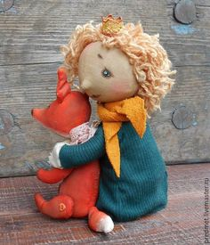 Купить Маленький принц - маленький принц, принц, лис, экзюпери, мальчик, текстильная кукла