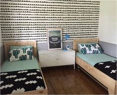 Home Decorating Idea Phot Contemporary Bed 134 Kids Bedroom, Bedroom Decor, Bedroom Bed, Shared Boys Rooms, Kids Room Design, Boy Room, Decoration, Home Decor, Modern Bedding