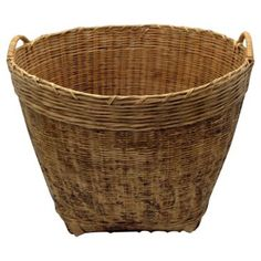 Check out this item at One Kings Lane! Oversize Bamboo Basket w/ Handles