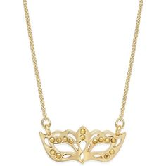 kate spade new york Dress The Part Gold-Tone Masquerade Necklace ($68) ❤ liked on Polyvore featuring jewelry, necklaces, gold, kate spade jewelry, ball jewelry, ball necklace, gold tone necklace and pendant necklace