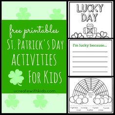 St. Patrick's Day Free Printables for Kids