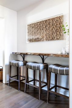 Youthful energy, bold colors, and quirky design accent this Altadena home. Bold Colors, Houzz, Bar Stools, Kitchen Design, Designers, Interior, Projects, Furniture, Home Decor