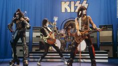 40 Years of Kiss 2014 / Kiss performs on stage, circa 1981. Peter Criss, the band's original drummer, was replaced by Eric Carr in 1980. Left to right: Gene Simmons, Ace Frehley, Eric Carr and Paul Stanley.
