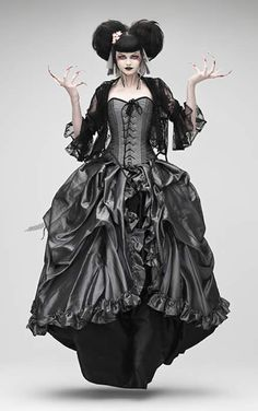 Gothic Geisha Femme Fatale with matching Antoinette skirt