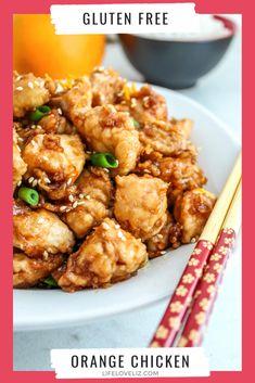 Gluten Free Orange Chicken Recipe, Gluten Free Soy Sauce, Gluten Free Recipes, World's Best Food, Good Food, Panda Express Orange Chicken, Healthy Recepies, Boneless Skinless Chicken, Toasted Sesame Seeds