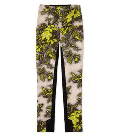 Honor Neon Floral Print Skinny Pants.