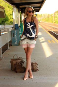 nautical fashion tumblr | street style # fashion
