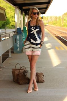 nautical fashion tumblr | street style # fashion
